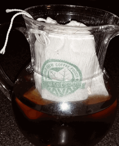 Madesco cold brew coffee in pitcher - Cold-Brewed Coffee Filters