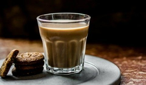 Biscotti and Cold Brew Coffee