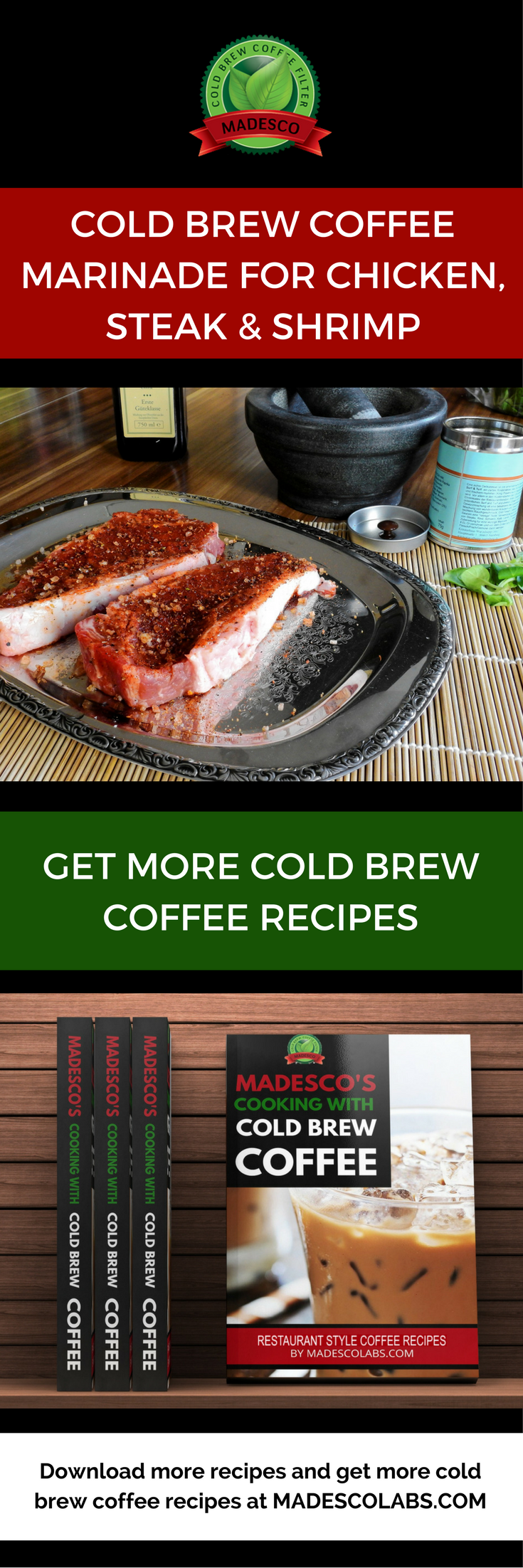 COLD BREW COFFEE MARINADE FOR CHICKEN, STEAK AND SHRIMP AT MADESCOLABS.COM