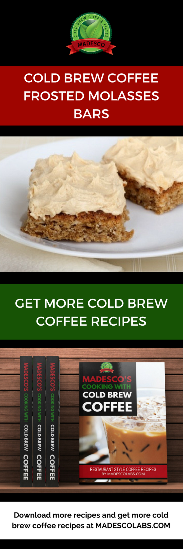 Frosted Molasses Bars MadescoLabs.com