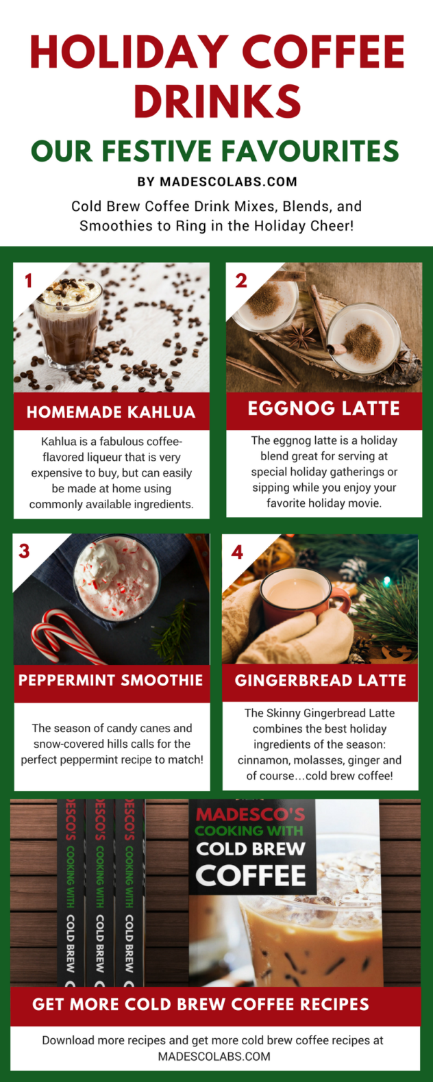 Holiday Coffee Drinks with Cold Brew Coffee